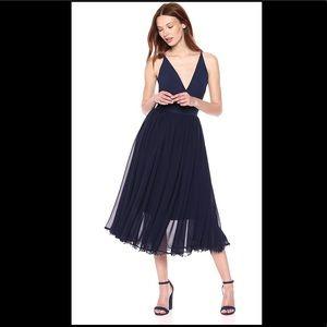 DRESS THE POPULATION Women's Alicia Midi Dress